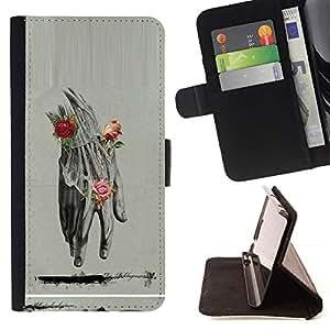 Momo Phone Case / Flip Funda de Cuero Case Cover - Anatomy Drawing Rosas Lápiz - LG G4c Curve H522Y (G4 MINI), NOT FOR LG G4