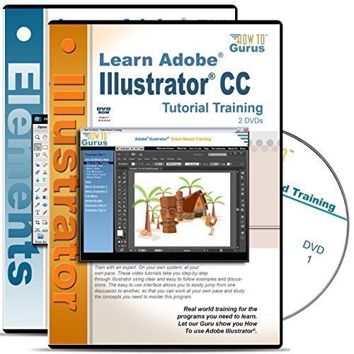 Adobe Illustrator CC Tutorial & Adobe Photoshop Elements 13 Training 4 DVDs by How To Gurus