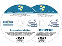 Windows 7 (SP1) 32 & 64 bit Reinstall Install DVD Disc Home Basic Premium Professional Ultimate - 2017 Driver DVD Included - 2 Disc Installation Kit
