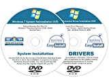 Image of Windows 7 (SP1) 32 & 64 bit Reinstall Install DVD Disc Home Basic Premium Professional Ultimate - 2017 Driver DVD Included - 2 Disc Installation Kit