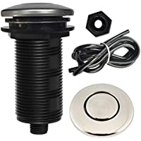 Garbage Disposal Air Switch Button, KEBE Sink Garbage Disposal Parts Air Activated Switch Button (Brushed)