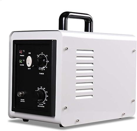 GRASSAIR 20000Hrs Generador De Ozono Purificador De Aire Tubo De Cerámica 1-3G Ajustable Ozono Desintoxicación Máquina para Agua Y Aire Desinfección con Temporizador ...