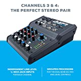 Alesis MultiMix 4 USB FX | 4 Channel Compact Studio Mixer with Built In Effects & USB Audio Interface for Home Studio Recording