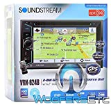 Soundstream VRN-624B in-Dash 2-DIN 6.2' Touchscreen LCD DVD Receiver with Bluetooth and GPS Navigation