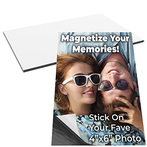 Memories Photo Magnet - Magnetize Memories with 4x6 in Adhesive Photo Magnets 2pk. Peel-and-Stick Magnetizers Turn School Crafts, Family Pictures or Kids Art Into Durable, Flexible Gifts. Custom Sheets for Fridge or Car