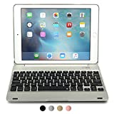 iPad Pro 9.7 / iPad Air 2 keyboard case, [NEW] COOPER KAI SKEL Q0 Bluetooth Wireless Keyboard Portable Laptop Macbook Clamshell Case Cover with 14 Shortcut Keys for Apple iPad Air 2 / Pro 9.7 Silver