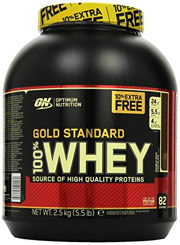 Optimum Nutrition Whey Gold Standard Protein, Double Rich Chocolate, 2,5kg