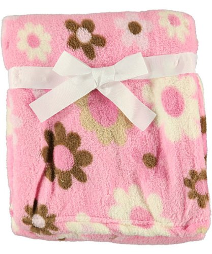 Amazon Cutie Pie Baby Blanket Pink With Brown And White