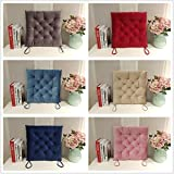 Sunrise 100% Polyster Velvet Winter Thickening Indoor/Outdoor 17''X17'' inch Ultra soft Wrinkle Free Durable Square Chair Pad Seat Cushion polyester (Six Colors Randomly)