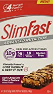 Slim Fast Advanced Nutrition Meal Replacement Bar, Chocolate Cherry Cashew, 4 Count