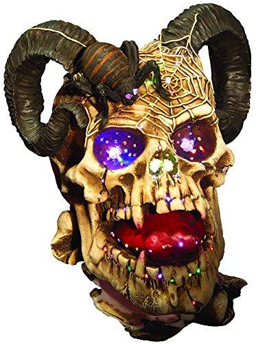 Fiber Optic Halloween Costumes (Rubie's Fiber Optic Ram Skull Decoration, Multicolor)