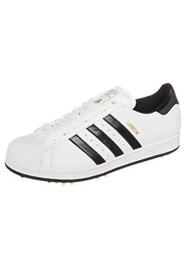 Adidas, Uomini E 'Il Golf Superstar Scarpe Da Golf Q46684 White (Uk 10 (Ue 44