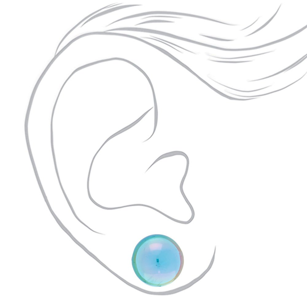 10MM Holographic Ball Stud Earrings