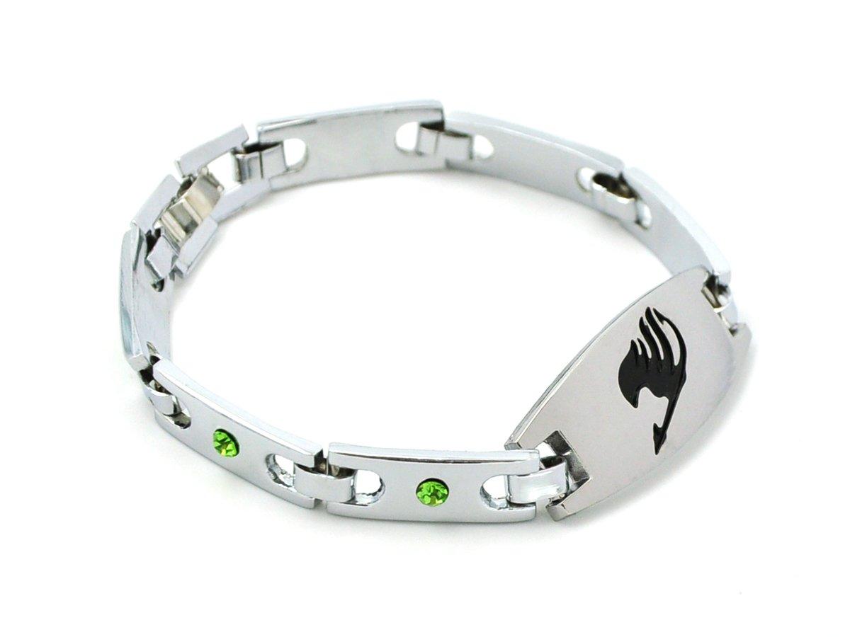 CoolChange Fairy Tail Metall Armband mit Deko Steinen, verchromt