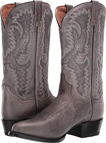 - Dan Post Mens Grey Cowboy Boots Leather R Toe 10.5 D
