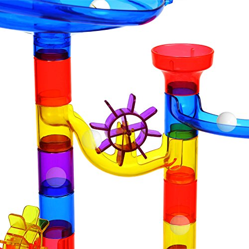 AFALA Marble Run Set 122 Pcs Marble STEM Toys,Marble Game Learning Educational Construction Building Blocks for Kids by AFALA (Image #3)