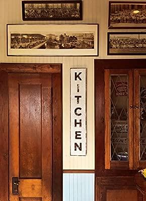 Amazon.com: Letrero rústico vertical para cocina, producto ...