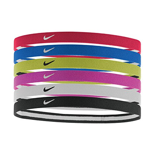 Nike Swoosh Sport Headbands 2.0 6pk (University Red/Game - Warehouse Hair