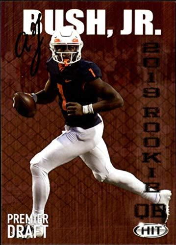 2019 SAGE Hit Premier Draft (NFL) #110 AJ Bush Jr. Illinois RC Rookie High Series Football Card