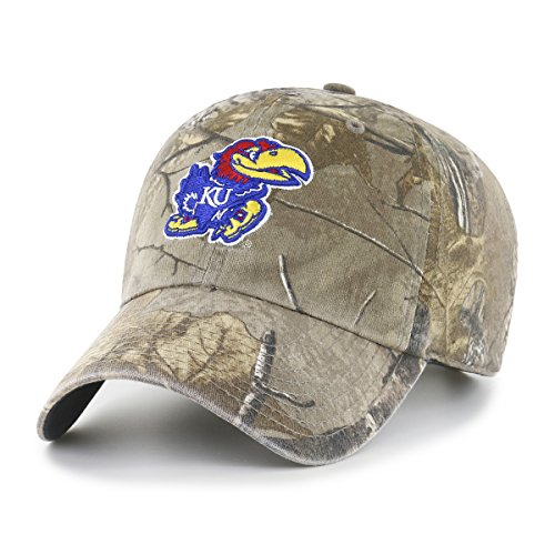 (NCAA Kansas Jayhawks Realtree OTS Challenger Adjustable Hat, Realtree Camo, One Size)