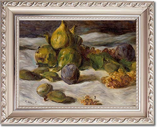 Ori Gallery Framed Canvas Print - Still Life with Fruits,Figs and Currants - by Pierre Auguste Renoir