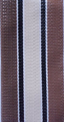 WebbingPro(TM) Tan Multi Stripe Lawn Chair Webbing 3 Inches Wide 92 Feet Long - Multi Tan Stripe