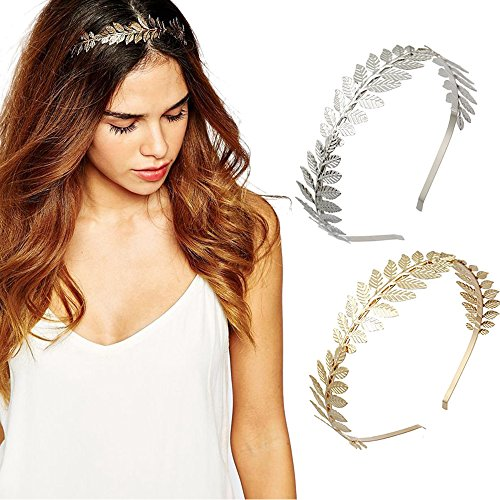 DRESHOW Roman Goddess Leaf Branch Dainty Bridal Hair Crown Head Dress Boho Alice Band -