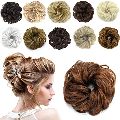 HAIRREAL Hair Bun Extensions Messy Hair Scrunchies Donut Chignons Hairpiece Scrunchy Updo Hair Pieces