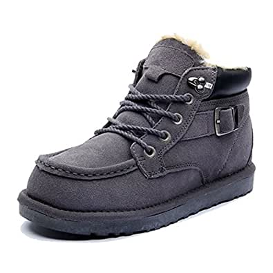 Amazon.com | Wawoo® Winter Snow Boots for Men Casual Lace