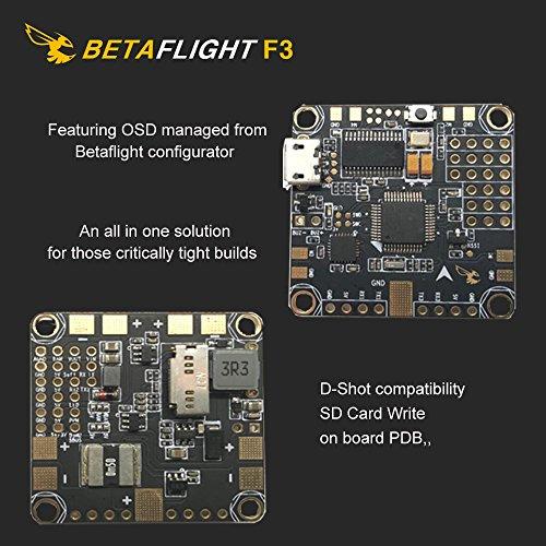 Crazepony Betaflight D-Shot F3 Flight Controller and A Crazepony Strap ,  MPU6000 Gyro/ACC Sensor , Current Sensor, 6 Layer Pcb , Built in 3A 5V BEC