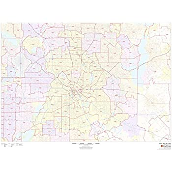 Amazon Com Dallas Fort Worth Texas Zip Codes 48 X 36 Paper