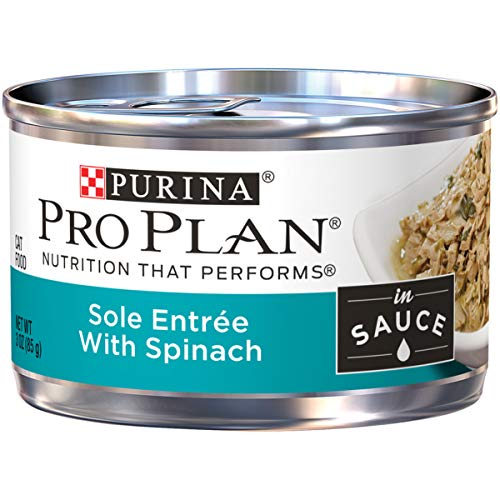 Purina Pro Plan Sole Entree With Spinach Braised in Sauce Adult Wet Cat Food - (24) 3 oz. Pull-Top Cans