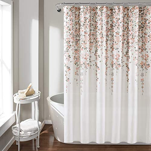 Lush Decor Weeping Flower Curtain Fabric product image