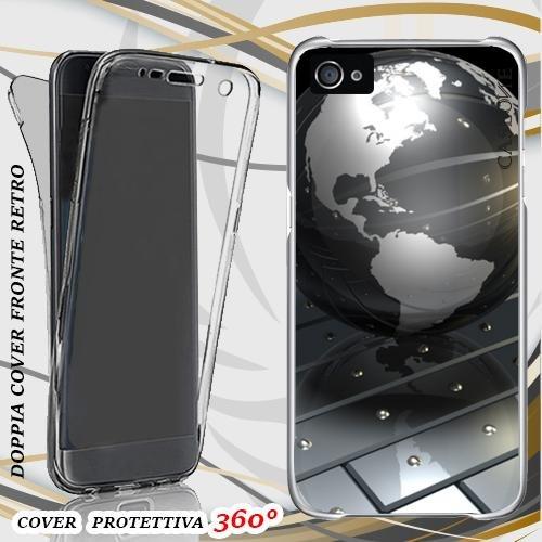 CUSTODIA COVER CASE MODERN WORLD PER IPHONE 4 FRONT BACK