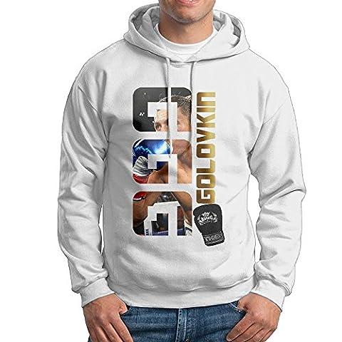 Hane Sea Men's GGG Golovkin Classic Cotton Long Sleeve Hoodie Sweatshirt (One Direction Signed Shirts)