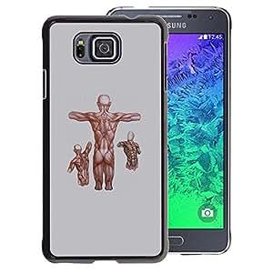 A-type Arte & diseño plástico duro Fundas Cover Cubre Hard Case Cover para Samsung ALPHA G850 (Anatomy Fitness Bodybuilding Man Muscle)