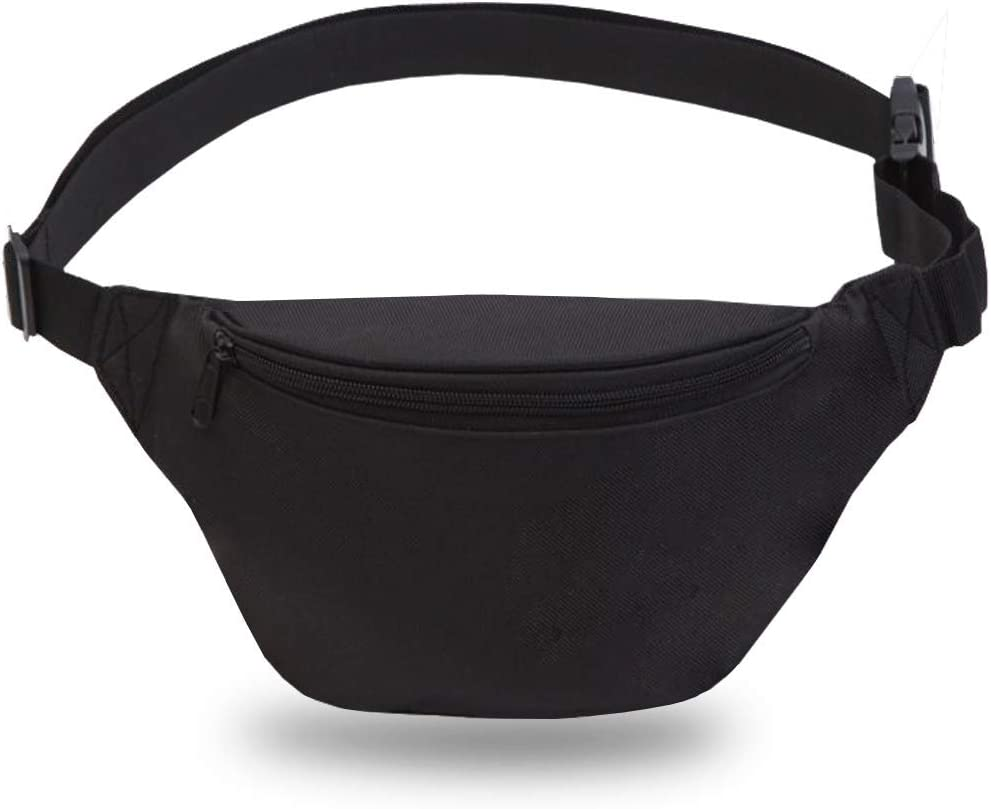 Fanny Pack for Outdoors Workout Traveling Casual Running Hiking Cycling Nurse Unisex Black