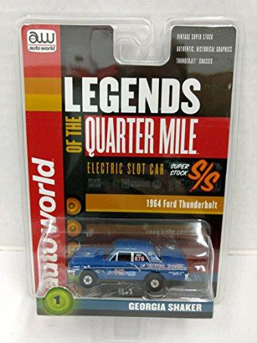 Scale Electric Slot Car - Auto World SC319 Legends of the Quarter Mile Georgia Shaker 1964 Ford Thunderbolt HO Scale Electric Slot Car