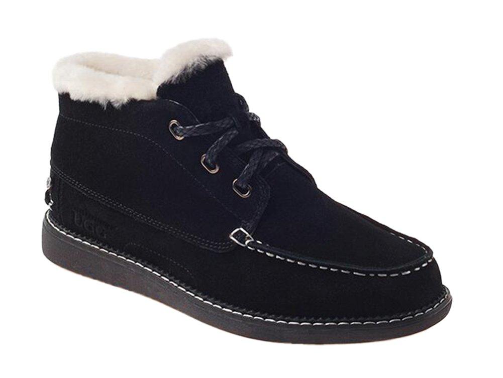 Ozwear UGG Men's Classic Lace Cotton Snow Boots Shoes Blackmen AU 8M/EU 41/ US8.5/ UK8
