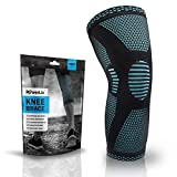 PowerLix Compression Knee Sleeve - Best Knee Brace for Meniscus Tear, Arthritis, Quick Recovery etc. - Knee Support For Running, CrossFit, Basketball and other Sports, XL