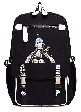 Cosstars Sword Art Online Sao Anime Mochila Escolar Estudiantes Mochila para Portátil Backpack Bolsa Casual -1: Amazon.es: Equipaje