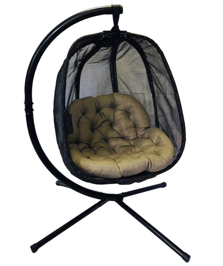 Flower House FHEC100-BRK Egg Chair (Espresso) by Flower House