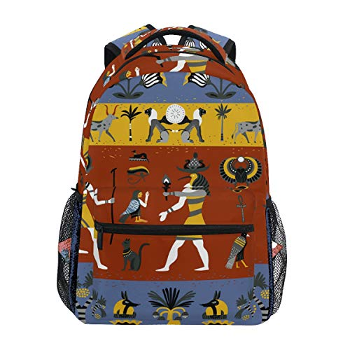 TropicalLife Retro Ancient Egyptian Backpacks School Bookbag Shoulder Backpack Hiking Travel Daypack Casual Bags