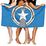 "Beach Towel Flag Of The Northern Mariana Islands 80"" X 130"" Soft Lightweight Absorbent For Bath Swimming Pool Yoga Pilates Picnic Blanket Towels"