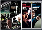 Clint Eastwood 4 Film Favorites Dirty Harry & Magnum Force + Trouble with the Curve, Gran Torino, J. Edgar, Invictus Feature 6 movie set