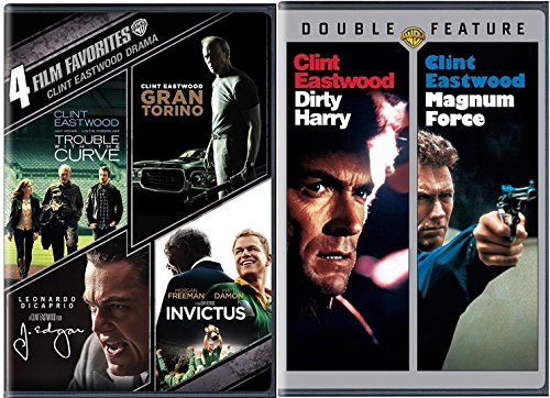 Clint Eastwood 4 Film Favorites Dirty Harry & Magnum Force + Trouble with the Curve, Gran Torino, J. Edgar, Invictus Feature 6 movie set by warnerHomeVideo