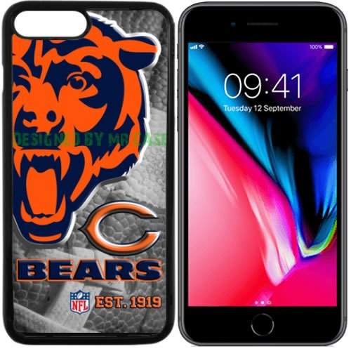 Bears Chicago Football New Black Apple iPhone 8 PLUS Case By Mr Case (Football Black Bears Case Chicago)