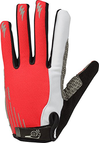 Zx Leather Glove (Wonny Sports Cycling Gloves ZX-071, Red Full Finger)