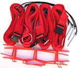 Home Court 19 AG Volleyball Adjustable Boundary Webbing, Red