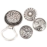 BMC Interchangeable Snap Centerpiece Eye Glass Holding Magnetic Brooch - Set 6